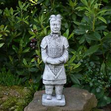 Massive Steinfigur Chinesischer Terrakotta Krieger mittel Motiv I aus Steinguss