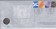 1999 PARLIAMENT FOR SCOTLAND £1 UNCIRCULATED COIN  COVER