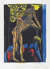 Ernst Kirchner Reproduction: Persecution of the Shadowless - Fine Art Print