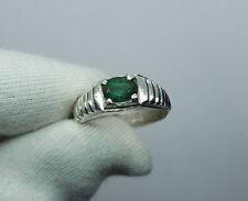 Mens Natural Emerald Ring Emerald Band for Men Real Emerald Ring Swat Emeralds