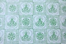 MINIATURE DOLLHOUSE wallpaper j hermes 1978 green white print 1:12