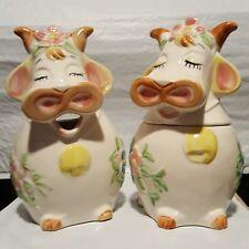Cow Creamer And Sugar Bowl Set Made in Japan