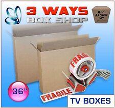36 Inch TV Picture Artwork Storage Box FRAGILE TAPE & Dispensing Gun