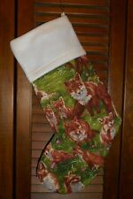 RED FOX, FOXES, KITS  HANDMADE CHRISTMAS STOCKING * FREE SHIP