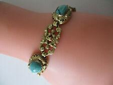 Armband Edelsteine:Türkis filigran vergoldet Modeschmuck