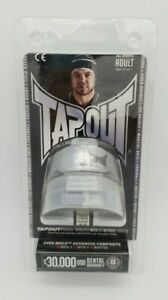 BNIP TapouT Adult Size Boil And Bite Silver Grey All Sports Mouth Guards 2 PK