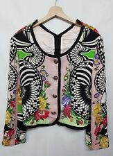 GIANNI VERSACE VERSUS GIACCA DONNA VINTAGE 90 VERSACE JACKET BALZER WOMAN 32/46