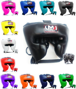 UMA R-9 Classic Fight Sports Training Cheek Protection Boxing Head Gear Muay MMA