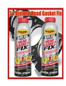 2 x Rislone Permanent Head Gasket Fix - for diesel-petrol Cars, 4,6, 12 cylinder