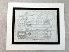 More details for 1890 antique print piston steam engine design diagram plan victorian original