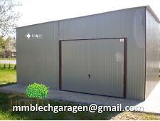 Blechgarage Blechhalle 4x8x3,01m Lager KFZ-Garage Fertiggarage Halle RAL9006 N46
