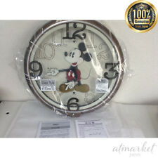 SEIKO Disney Mickey Mouse Wall Clock Metallic FW576B 6 songs melody JAPAN F/S
