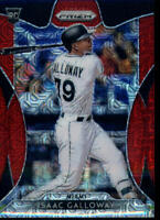 2019 Prizm Red Mojo Rookie Card #202 Isaac Galloway 131/299 Miami Marlins