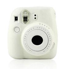 White Instant Camera Silicone Skin Case Cover + Strap For Fujifilm Instax Mini 8