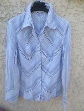 Chemise femme KOOKAI bleu ciel blanc manches longues 40