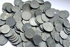 MUST SELL! 1000 RAW UNCLEANED WW2 NAZI ZINC COINS w SWASTIKA! 10 PER LOT! 1-5-10