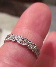 Platinum VS-G, .39 Ctw Dia Eternity Ring-Leaf Design-Sz 6.5, 3.1 Gm, Orig $2995.