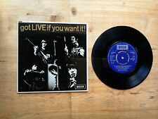 "Rolling Stones Got Live If You Want It 7"" EP EX Vinyl Record DFE 8620 MONO P/S"