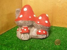 Hand painted fairy toadstool ,mushroom stone fairy garden house.