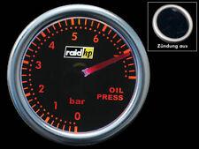 """Öldruckanzeige Instrument 2"""" RAID Night Flight Rot Öldruck Anzeige Oilpress Gaug"""