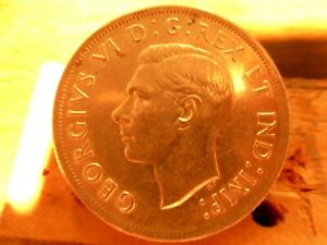 1937 canada silver dollar nice upper grade 1 $ large silver coin auction low sta