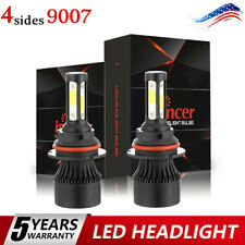 Pair 4-sides 9007 CREE LED Headlight Kit 2900W 6000K 360000LM Replacement Bulbs