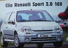= Clio RENAULT SPORT 2.0 16V - Septembre 1999 - Feuillet Neuf