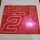 PINK CHROME w/Baby Blue #2's Decal Sticker Sheet 1/8-1/10-1/12 RC Models