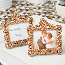 30 - Rose Gold Baroque Style Place Card Holder Picture Frame - Wedding Favors