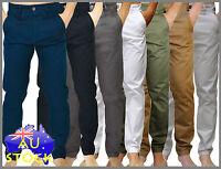 New MENS Chinos 100%Cotton Twill Slimfit Straight Leg Pants Trousers jeans TPC01