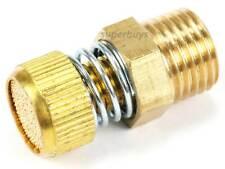 """1/4"""" NPT Adjustable Spring Pneumatic Silencer Brass Flow Muffler Exhaust Valve"""