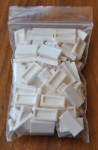 Lego 2x1 White Flat Tile 100pcs