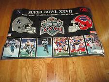 93 SUPER BOWL XXVII BILLS vs DALLAS COWBOYS Poster TROY AIKMAN MVP EMMITT SMITH