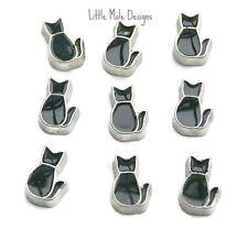 Mejor Calidad Black Cat Amuleto Flotante Para Memoria Viva Medallón Collar Colgante