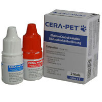Dog Cat Blood Glucose Monitor Control Solution to use with CERA Pet Test Strips