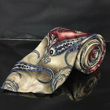 Wembly Vintage Silk Blend Paisley Tie Red Blue Gold White brilliant!