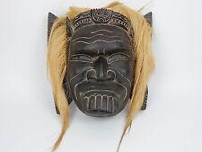 Large Hand painted hardwood Indonesian/ Balinese  Mask.  14 inches