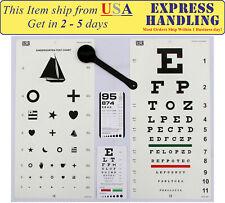 5 Piece Optometry Set - Traditional Snellen & Kindergarten Eye Test Chart