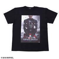 Marvel x PONEYCOMB Japan Captain America Poster Mens Tee shirt size XL