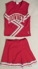"Authentic 2 Piece Cheerleader Uniform: ""Downey""."