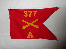 flag373 WW 2 US Army Airborne  Guide on 377th Field Artillery Battery A