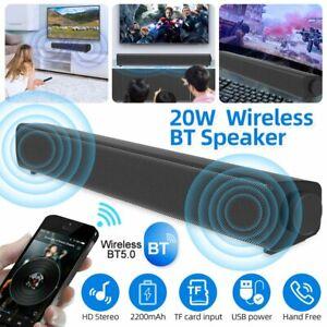 Bluetooth 5.0 Soundbar Subwoofer Fernbedienung Lautsprecher für TV PC Handy DHL