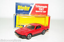DINKY TOYS 211 TRIUMPH TR7 SPORTS CAR RED MINT BOXED RARE SELTEN RARO!