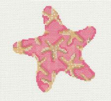 SP.ORDER ~ Starfish in Pink Needlepoint Canvas & STITCH GUIDE by Assoc.Talents