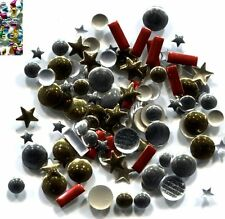 Rhinestuds  Hot Fix  MIXED COLORS and MIXED SHAPES 144 Pc  1 gross