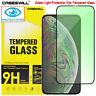 For iPhone 11 Pro X XS Max XR Green Light Tempered Glass Full Screen Protector