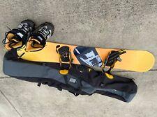 K2 snowboard from 90's 151, Ride Bindings, Women's Airwalk Boots and Burton bag
