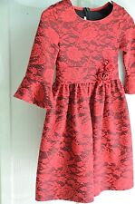 Bonnie Jean red floral GIRL'S dress size 8