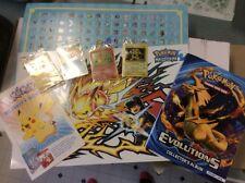 ToysRUs Pikachu Magikarp Electabuzz Charmander Promo Cards Poster book game RARE