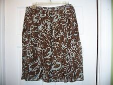 Worthington Women's Skirt Size 12 Knee Length Brown Geometric
